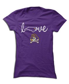 huge discount 6c090 4860b ECU Pirates - Love With State Outline More Utah State University ...