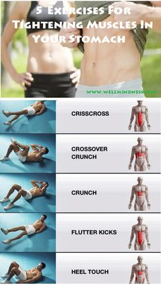 These exercises for tightening muscles in your stomach shows a perfect way to burn fat, don't worry, just check the illustrations below