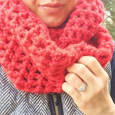 Lacy Crocheted Afghan Cowl
