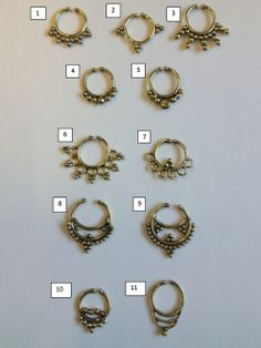 Brass Fake Septum, Nose Septum for Non-Pierced Noses
