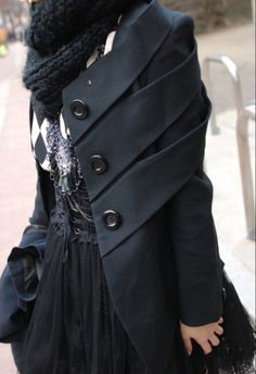 Japanese street fashion. Love the coat!