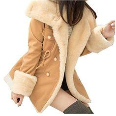 Women Coat,Haoricu Winter Fashion Warm Koeran Style Double Breasted Wool Blend Women Coat Jacket