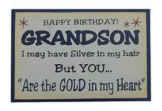 Happy Birthday Grandson Quotes | Happy Birthday Grandson Quotes http://www.ebay.co.uk/itm/1-x-Funny ...