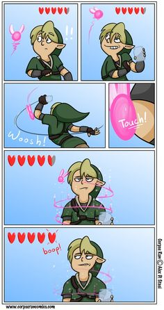 Aurgh, I hate it when that happens. - Link, Legend of Zelda comic