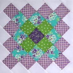 Purple Great Granny Block by bitty bits & pieces