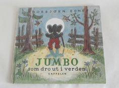 Jumbo som dro ut i verden - Thorbjørn Egner Cover, Books, Libros, Book, Book Illustrations, Libri