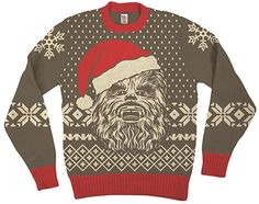 Chewbacca Santa Hat Sweater ~ $65 ~ Geeky Christmas Fashion! http://amzn.to/2gelquM