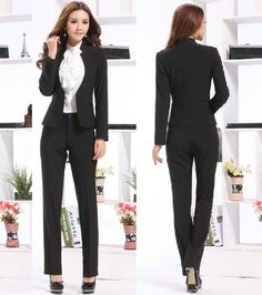 Fashion New 2014 Spring Winter Formal Women Suits with Pants and Tops Fashion Ladies Office Suits Elegant Free Shipping(China (Mainland))