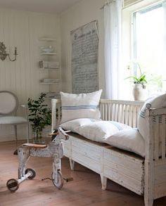 Rustic Swedish interior.