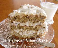 Cake Recipe | Italian Pecan Cream Cake Recipe.