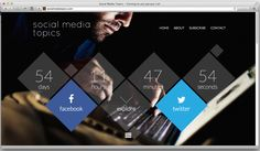 Tony could this inspire for website?  Social Media Topics - launch countdown