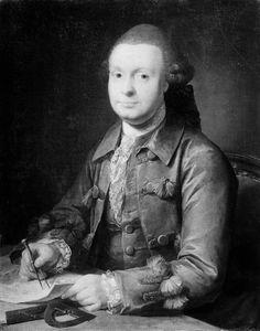 Jens Juel   Danish,  Peder Rahr, købmand i Ribe, 1770 TECHNIQUE Oil on canvas REFERENCE KMS3499