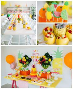 DIY tropical party! Summer birthday