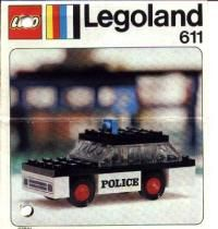 View LEGO instructions for Police car set number 611 to help you build these LEGO sets