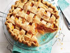 Classic Peach Pie - can't wait to try this! Walmart Recipes, Peach Pie Recipes, Lattice Top, Pie Shop, Homemade Pie, Time Saving, Cakes And More, Food Styling, Waffles
