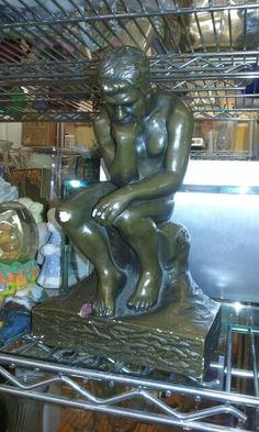 Thinking man statue. Pretty cool