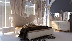 General Avangarde Yatak Odası Bedroom Bed Design, Bedding Master Bedroom, Home Decor Furniture, Bedroom Furniture, Bedroom Decor, Home Living Room, Living Room Designs, Royal Bed, Luxurious Bedrooms
