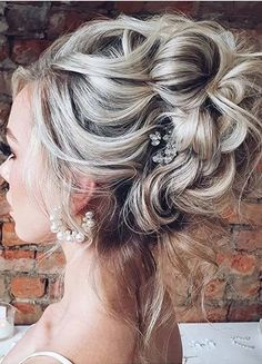 Superb Textured Updo Hairstyles to Show Off in Year 2020 | Voguetypes Bun Updo, Updo Hairstyle, Bun Hairstyles, Haircuts, Short Hair Trends, Short Hair Styles, Updos, Lady, Wedding