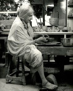"""Beatrice Wood:  When asked the secret of her longevity, she would simply offer """"art books, chocolates and young men""""."""