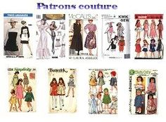 .Sewing patterns -printables for miniatures