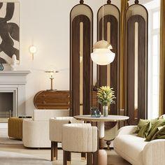 #tendencedeco #vintage #midcentury #mezzocollection #mezzogeneration #midcenturymodern #midcenturyfurniture #midcenturystyle #luxuryinteriordesign #decorinspiration #designtrends #designinspiration #exclusivedesign #furnituredesign #inspirations #luxuryfurniture #uniquedesign #homedesignideas #luxury #interiorarchitecture #interiorismo #luxuryliving #luxuryupholstery #upholstery #luxurylighting #coffeetable #diningchair Deco Restaurant, Restaurant Interior Design, Cafe Interior, Interior Exterior, Home Interior Design, Interior Architecture, Living Room Decor, Living Spaces, Partition Design