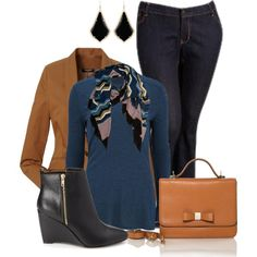 """""""Wedge Booties Outfit"""" by penny-martin on Polyvore"""