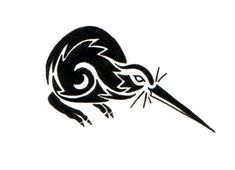Kiwi Bird Kiwi Tattoo Designs, Kiwi Bird, Maori Art, Indigenous Art, Reptiles And Amphibians, Tribal Tattoos, New Zealand, Stencils, Tatoo