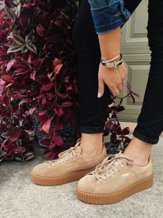 Puma / Rihanna / Creepers / Fenty / Chaussures / Inspiration / Colors / Beige / Shoes