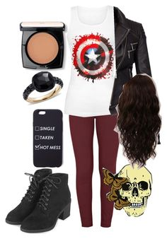 """Untitled #192"" by kerrbee9101 on Polyvore featuring Paige Denim, Barbour International, Topshop, Pomellato, Lancôme and WigYouUp"