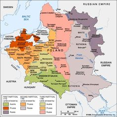 Partitions of Poland: Partitions of Poland, three territorial divisions of Poland perpetrated by Russia, Prussia, and Austria, by which Poland's size was progressively. Poland Map, Poland History, Alternate History, Historical Maps, European History, Modern History, Old Maps, Vintage Maps, Prussia