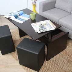 Genial Coffee Table With Ottomans Underneath Ideal In Interior Decor Home With Coffee  Table With Ottomans Underneath | For The Home | Pinterest | Ottomans, ...