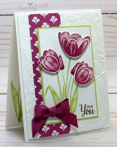 Stampin' Up! Tranquil Tulips-Cardiology by Jari