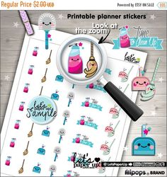 60%OFF - Clean Up Stickers, Printable Planner Stickers, Kawaii Stickers, Erin Condren, Housekeeping, Planner Accessories, Chore Stickers, Cl