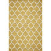 Maybe yellow since her room will have some yellow/gold accents?  (and her rocker is a yellowish honeycomb print fabric?) Found it at Wayfair - Geo Yellow Hooked Rug