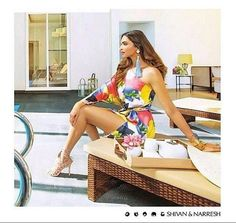 Deepika Padukone looking radiant in #ShivanAndNarresh Squash Print Kaftan for #LodhaBelmondo Campaign   #Resortwear #Kaftan #Print #OOTD #Style #CelebStyle #DeepikaPadukone #Summer #Celebrities