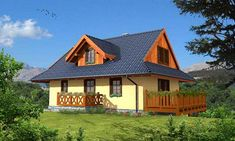 projekty domów drewnianych Home Fashion, Cabin, House Styles, Home Decor, Nice Houses, Nice, Decoration Home, Room Decor, Cottage