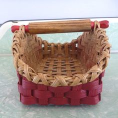 Mini Rolling Pin Basket by joannascollections on Etsy, $26.00