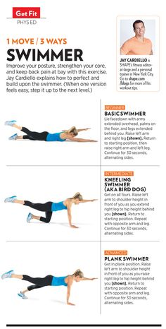 1 move, 3 ways from the October issue of SHAPE magazine! These exercise variations strengthen your back and core. Find more workouts at www.shape.com