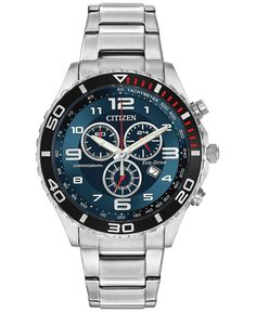 Citizen Men's Chronograph Stainless Steel Bracelet Watch 43mm AT2121-50L - A Macy's Exclusive