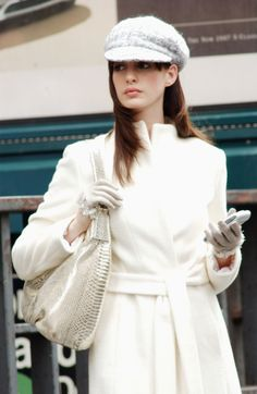 """Anne Hathaway looking flawless wearing all-white in """"The Devil Wears Prada."""" ©2014 FOX All Rights Reserved"""