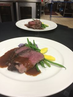Opolo Vineyards wine dinner - Elk medallions with lingonberry-pepper demi, over Peruvian mashed potatoes - Bellatrix Restaurant & Classic Club golf course - Palm Desert, CA