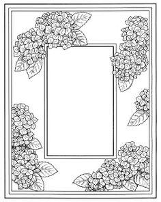Flower Designs and Motifs Floral Embroidery Patterns, Flower Patterns, Flower Designs, Glass Painting Patterns, Photo Frame Design, Vintage Frames, Art Images, Bing Images, Journal Cards