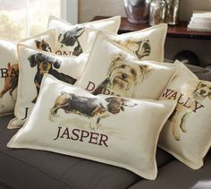Personalized Dog Pillow Covers. WANT THE ENGLISH BULLDOG WITH BERNIE ON IT!