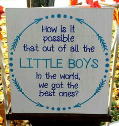 Best Little Boys sign - Kelly Belly Boo-tique