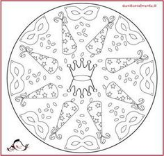 Fasching Im Kindergarten- Fasching Im Kindergarten Carnival mandala to print and color Clown Crafts, Carnival Crafts, Mandalas Painting, Mandalas Drawing, Cool Coloring Pages, Coloring Books, Mandalas For Kids, Picasa Web Albums, School Art Projects