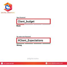 No! We are not complaining that our client's budget is comparatively less than the expectations! We are just letting you know that the key to a strong password is including the special, uppercase, lowercase and numeric characters if possible. P.S.- A GESTURE IS ENOUGH FOR A WISE MAN! For services related to Social Media Marketing and SEO Contact us : +916269066189. #client #budget #password #creative #ideas #advertising #marketingworld #digitalcreaters #onlineworld #dc #digitalmarketing Best Marketing Companies, Best Digital Marketing Company, Digital Marketing Services, Social Media Marketing, Best Web Development Company, Marketing Poster, Just Letting You Know, Seo Agency, Digital Trends