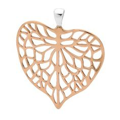 Pastiche Silver and Bronze tone Leaf Pendant Leaf Pendant, Bronze, Jewellery, Silver, Jewels, Schmuck, Jewelry Shop, Jewlery, Jewelery