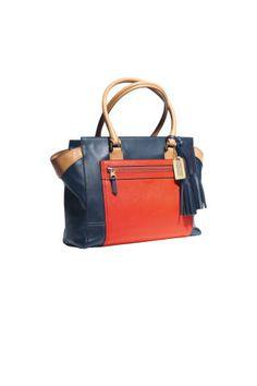 coach legacy colorblock candace caryall #handbags #trends #fashion #coach