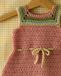 Posie: Rosy Little Things — Mina Baby and Toddler Dress Crochet Pattern