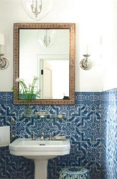 Sophisticated blue styled bathroom